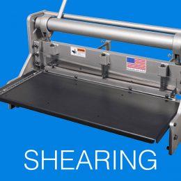 SHEARING - - Sheet Metal Fabrication Equipment
