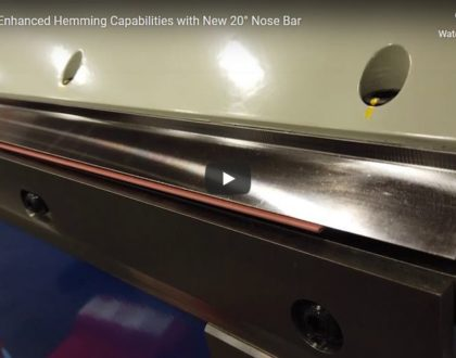 AB1016 Enhanced Hemming Capabilities with New 20° Nose Bar