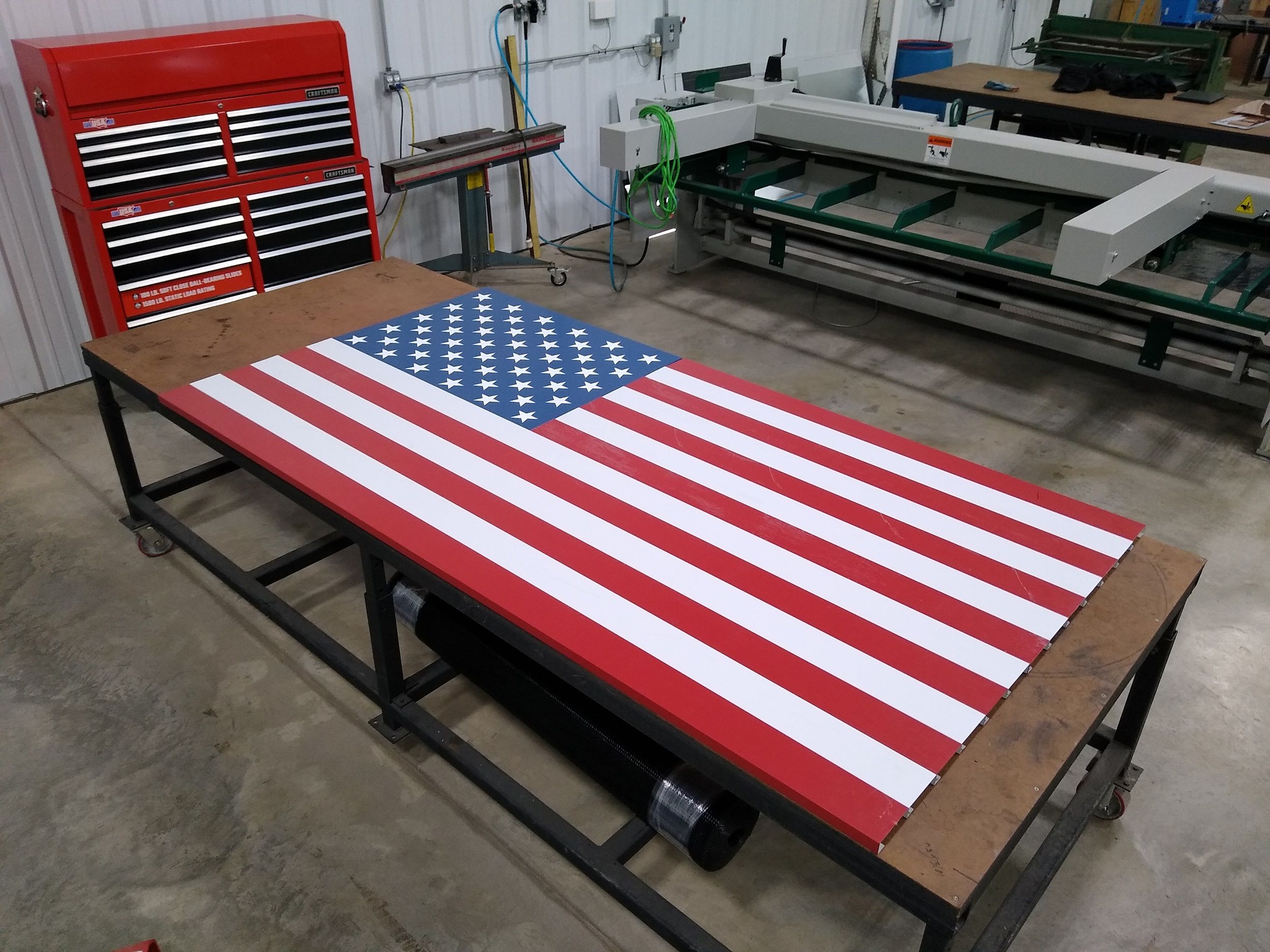 Building an American Flag Out of Sheet Metal
