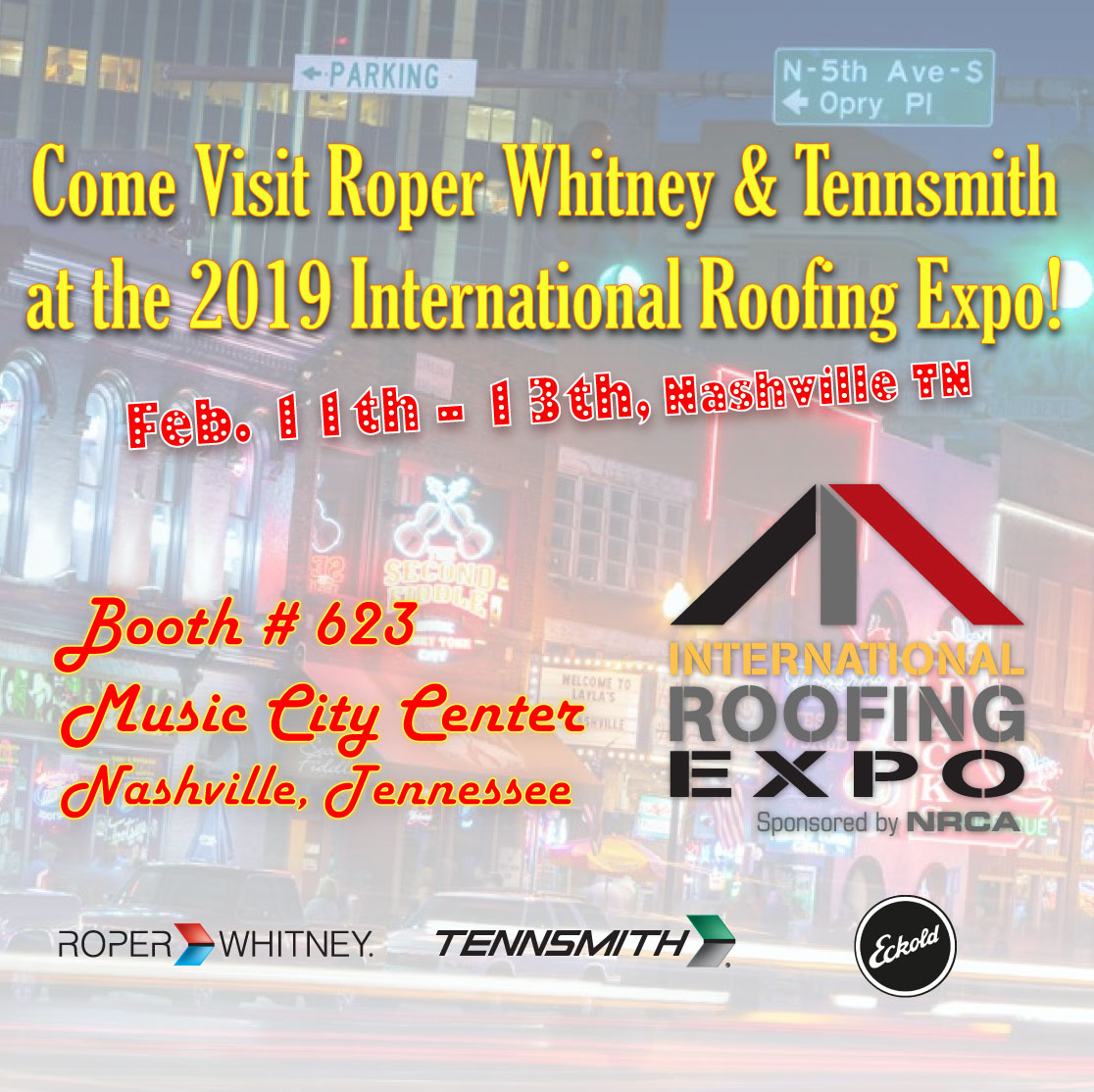 Come Visit Us at the International Roofing Expo: Feb 11-13, Nashville, TN